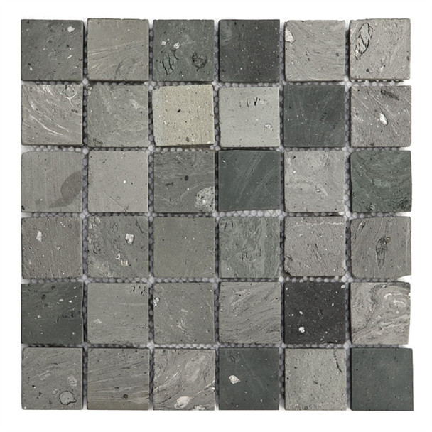 Bristol Studios - Terra Mosaics - G4381 Kerry - 2X2 Square Terracotta Handcrafted Unglazed Mosaic Tile - $9.99