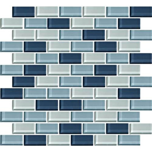 Supplier: Daltile, Series: Color Wave, Name: CW27 Winter Blues - Glossy, Category: Glass Tile, Size: 1 X 2