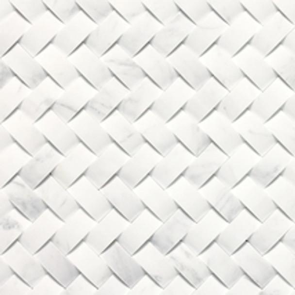 Supplier: Daltile, Series: Stone A La Mod, Name: M313 Contempo White, Category: Natural Stone, Size: Contoured Basketweave
