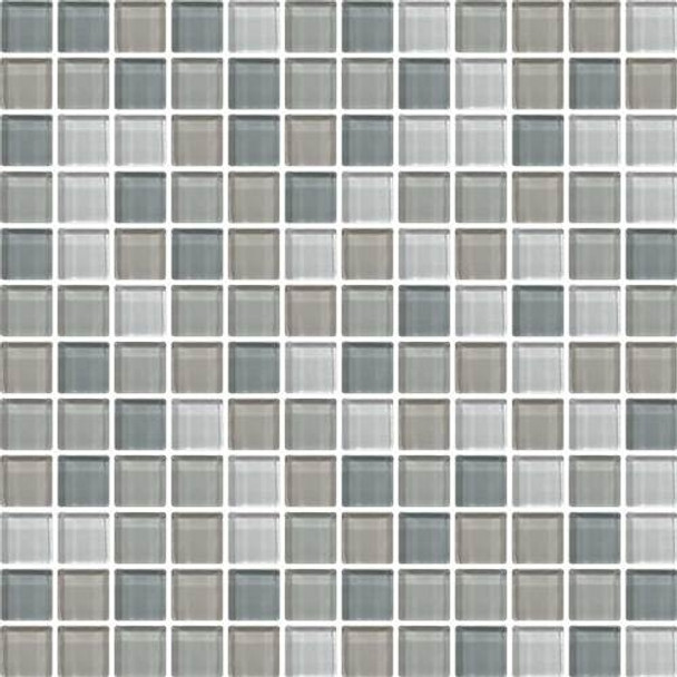 Daltile Color Wave Glass - CW21 Willow Waters Blend - 1 X 1 Dal Tile Glass Tile - Glossy - Sample