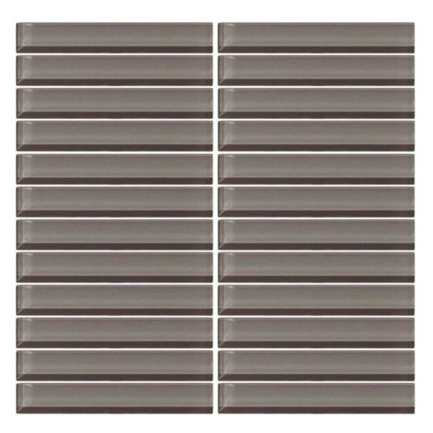 Supplier: Daltile, Series: Color Wave, Name: CW09 Kinetic Khaki - Glossy, Color: White, Category: Glass Tile, Size: 1 X 6