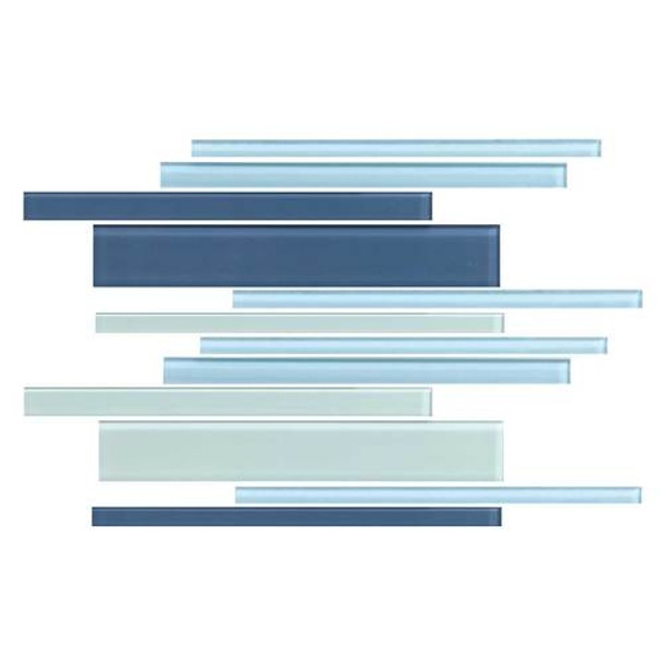 Supplier: Daltile, Series: Color Wave, Name: CW27 WinterBlues - Glossy, Category: Glass Tile, Size: Random