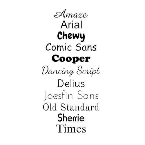 standard sticker fonts