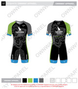 Yogi Triathlete 2019- Short Sleeve Tri Suit- Joey Cut- GREEN