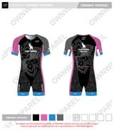 Yogi Triathlete 2019- Short Sleeve Tri Suit- PINK