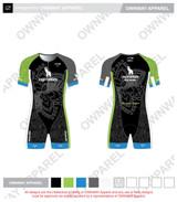 Yogi Triathlete 2019- Short Sleeve Tri Suit- GREEN
