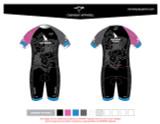 Yogi Triathlete 2019- Pro Youth Short Sleeve Tri Suit- PINK