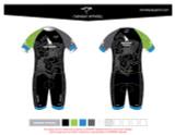 Yogi Triathlete 2019-Pro Youth Short Sleeve Tri Suit- GREEN