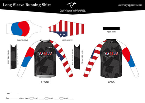 Way Of The Warrior Long Sleeve Running/Sparring Shirt - ADULT