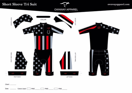 Short Sleeved Tri Suit
