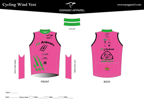 TRI-ANIMALS-PINK Cycling Wind Vest