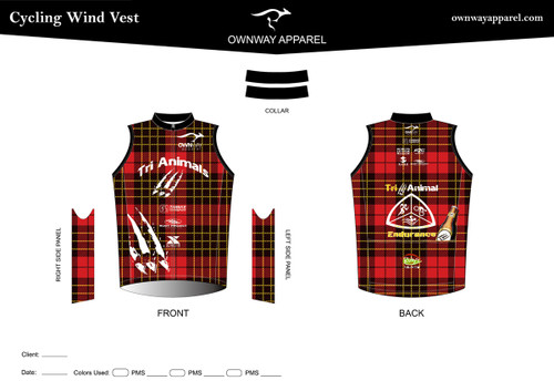 TRI-ANIMALS-PLAID Cycling Wind Vest