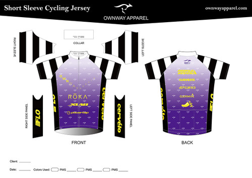 Paul Lanagan Purple Prisoner Cycling Jersey