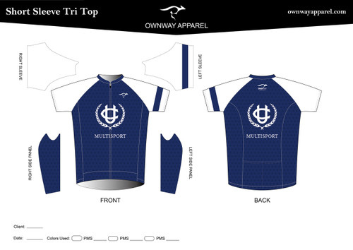 UCLUB Short Sleeve Tri Top (WHITE CREST)