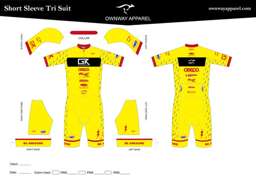 GK-Limited Short Sleeve Tri Suit