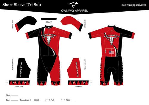BULLS-RACING Short Sleeve Tri Suit