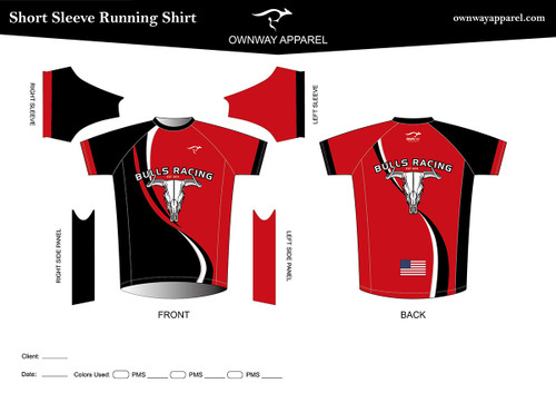 BULLS-RACING Running Shirt - ROUND NECK