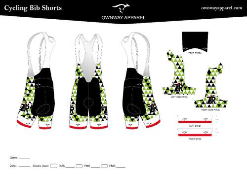 Zipper-Racing Bibs Shorts