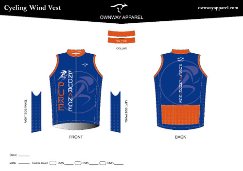 Pure Endurance- Cycling Wind Vest- Egyptian Blue