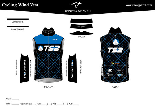 TS2 Blue Thermal Cycling Wind Vest