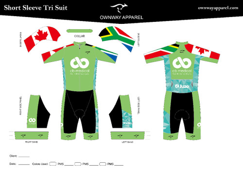 CB Medical- Short Sleeve Tri Suit- Green