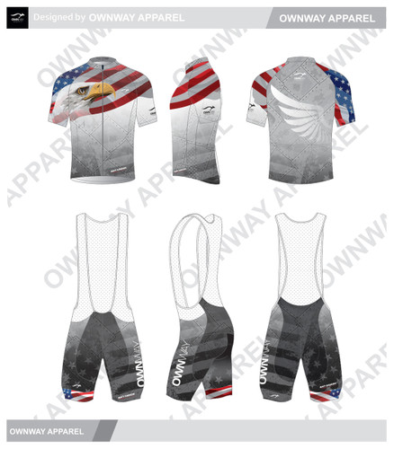Matt Hanson Merica Pro Cycling Bibs - RED