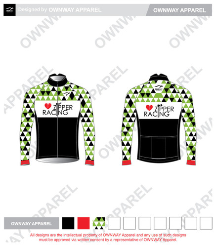 Zipper Racing- Cycling Wind Jacket