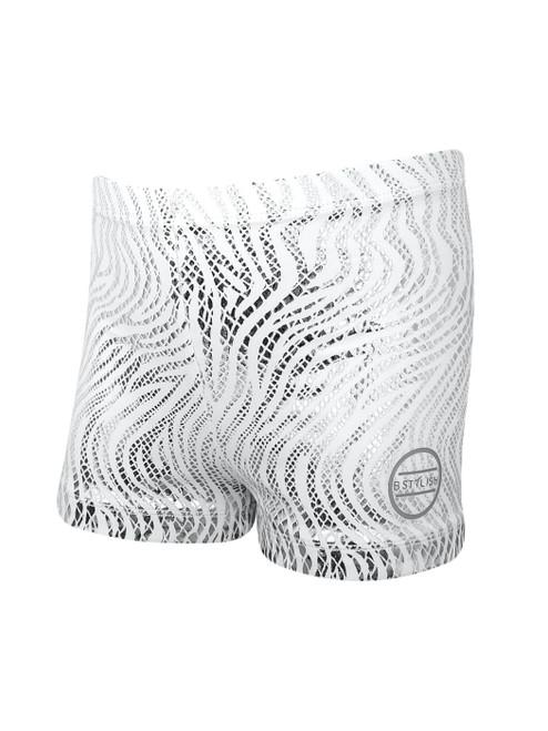 Flame White Shorts