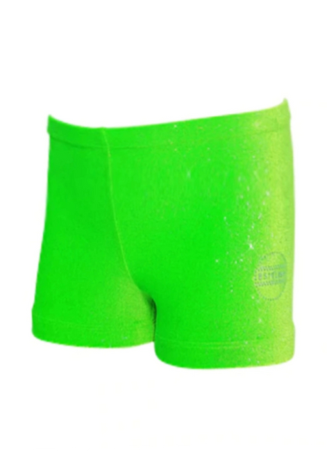 Sparkle Lime Shorts