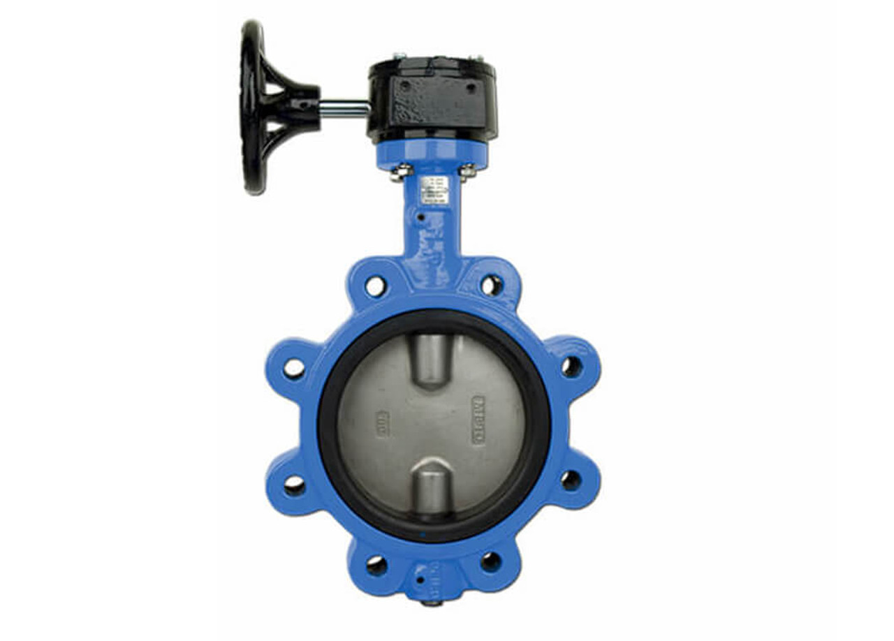 Epoxy Coated Ductile Cast Iron Butterfly Valve Lug Style Gear Operated 2 Bonomi G501S
