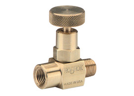 NOSHOK Brass Mini Needle Valve