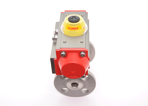 JFlow 2 Piece SS 150# Flanged Ball Valve with SR Pneumatic Actuator