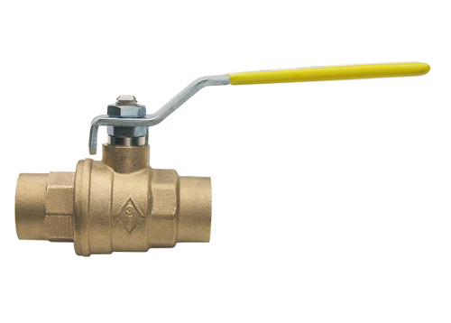 "1-1/2"" Bonomi 1715 - Brass, Full-Port, Solder Ends, Ball Valve"