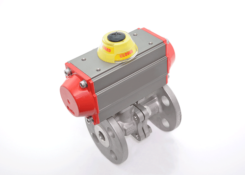 "4"" JFlow DM2533 Flanged Ball Valve & SR Pneumatic Actuator - ValveMan.com"