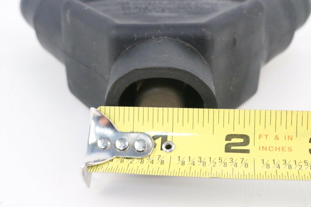 16 Series Multi-Way Connector 16A23-E Leviton Cam-Type, Taper Nose, 3-Fer Black