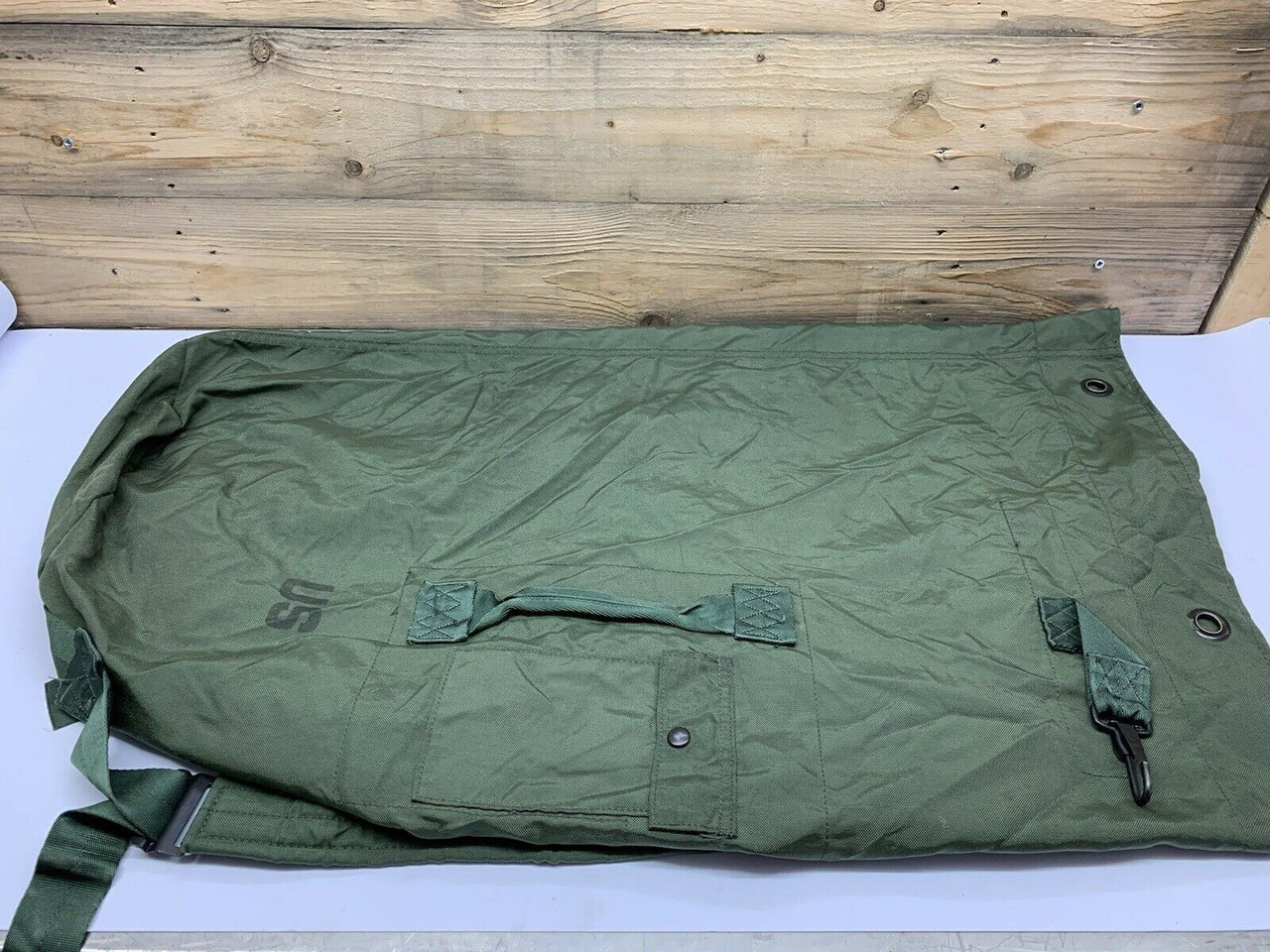 Military Duffel Bag 8465011178699 Camouflage Green Two-Strap