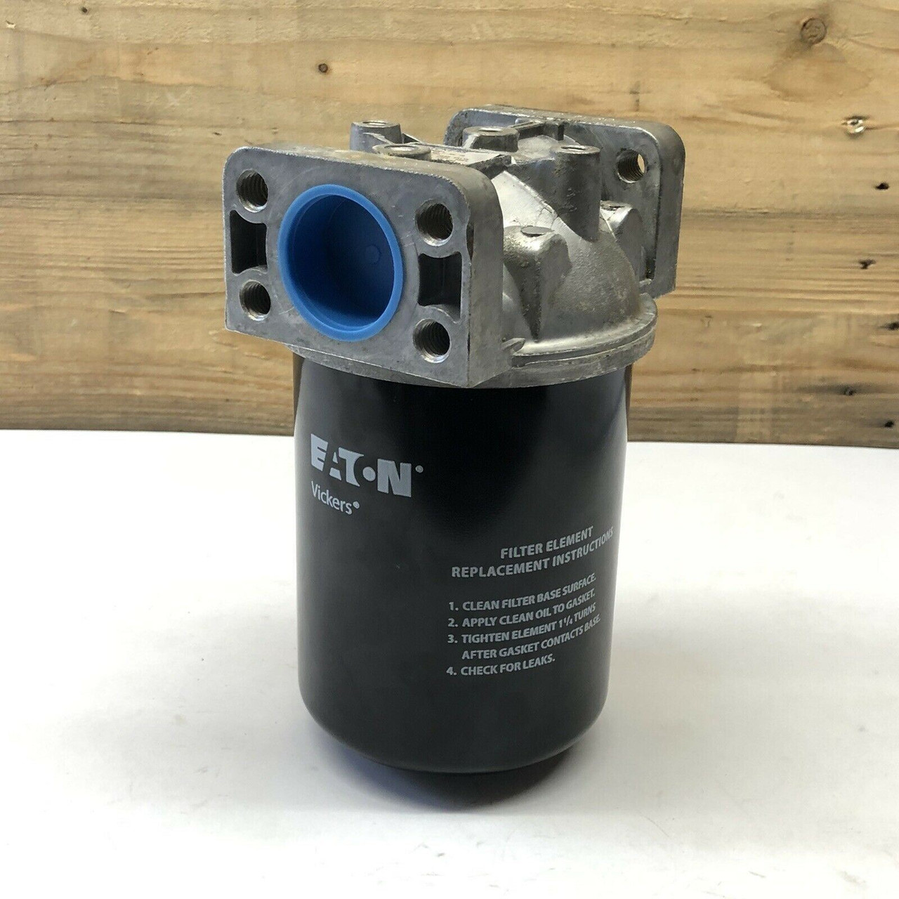 Filter Housing By-Pass Valve (with Eaton 941190 Filter) ORFS-60F-3M10 Vickers