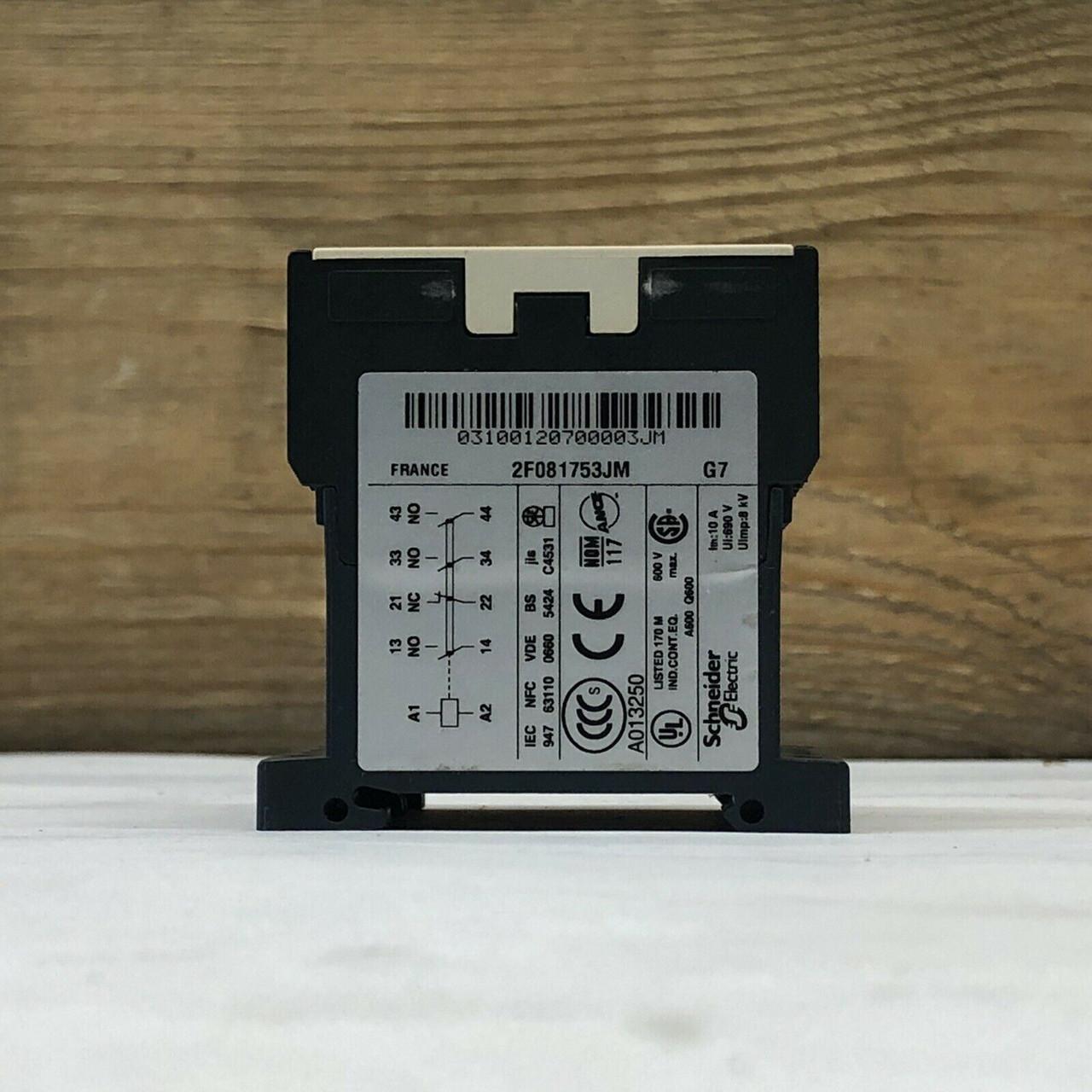 IEC Control Relay CA2KN31G7 Telemecanique 120VAC Coil, 3NO-1NC