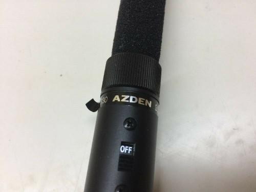 Azden Super Cardioid Directional Microphone Shotgun Wired ECV-330