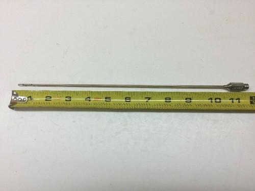 "Detachable Antenna End Tip Topper 12G27 Silver Diameter 0.5"" Length 11.5"""