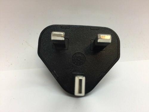UK International Adapter Clip Plug ASY-03746-001 Blackberry Black