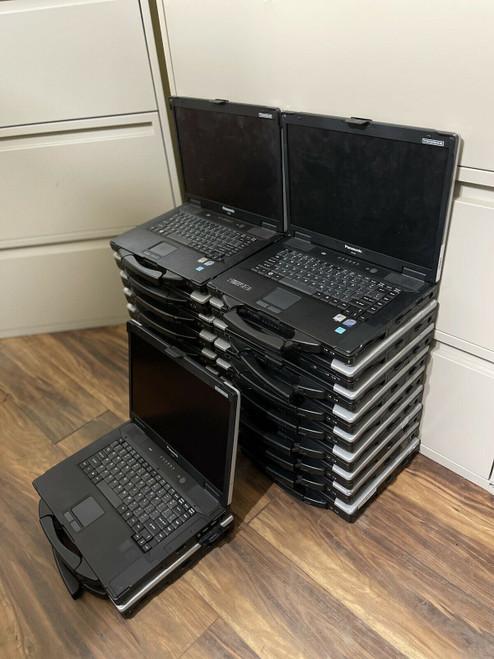 Panasonic Toughbook CF-52 Lot Of 20 - Core 2 Duo P8600 4GB x18, T7100 2GB x2