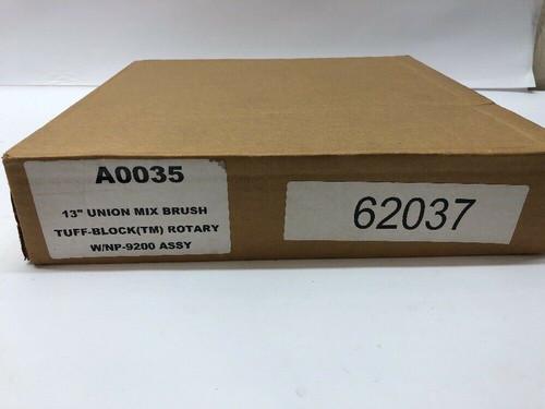 """Carlisle 13"""" Union Mix Brush Tuff Block Rotary w/ NP-9200 Assembly A0035"""