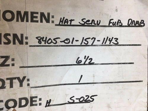 Service Hat MIL-H-19448 Olive Drab