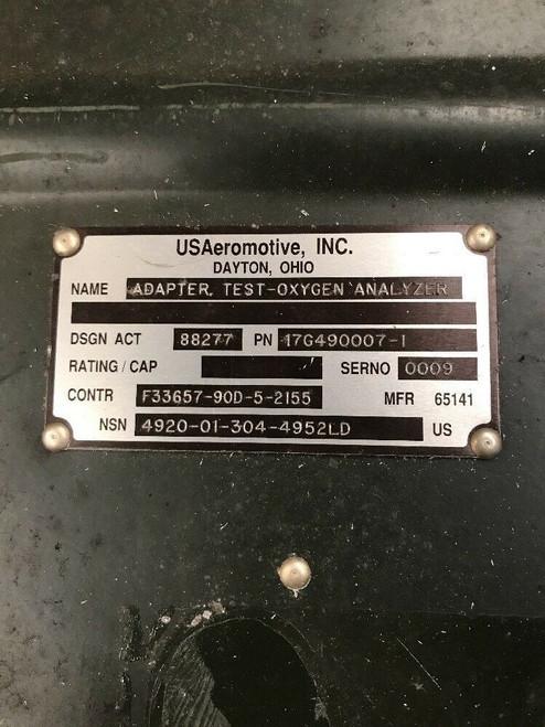 Test-Oxygen Analyzer Adapter 17G490007-1 USAeromotive