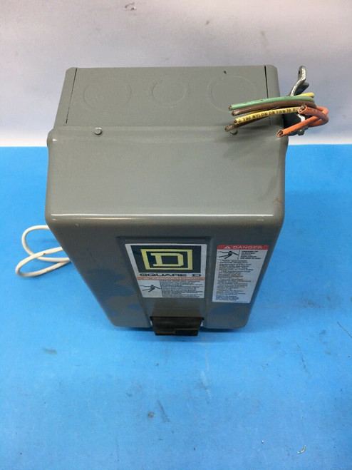 30A Lighting Contactor 8903SMG2 Square D Series A 120V 3 Pole in Enclosure