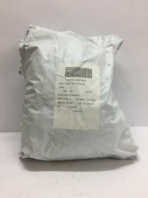 """Fuel Shut Off Label 3834538 Oshkosh Aluminum 3.25"""" x 1.5"""" x 1mm"""