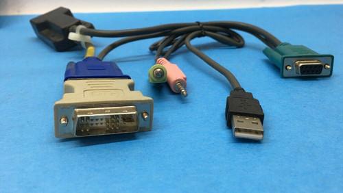 AMX Dual KVM Audio Serial USB Extender Cable AMIQDM-USB 500-164-501 Avocent