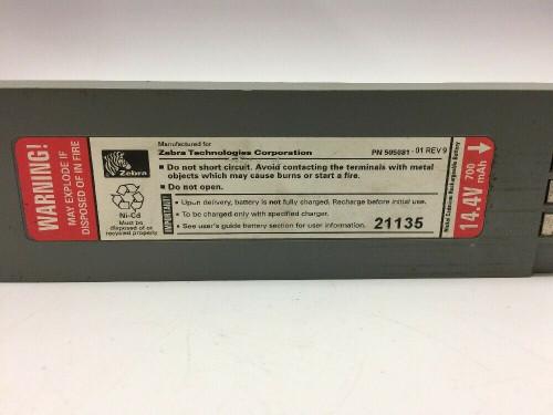 PT400 Battery Cell 505081M Zebra 14.4 Volts