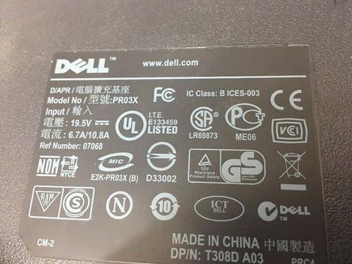E-Port Replicator Docking Station PR03X Dell USB 3.0